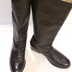FRYE Melissa Button Back Zip  Leather Riding Eques